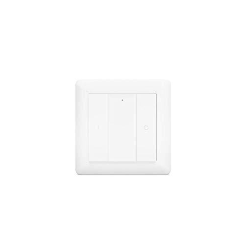 HeatIt - Telecomando da parete senza fili Z-Wave a due pulsanti, colore: bianco