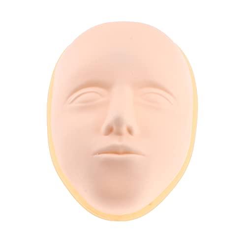 YAOSHI Titular de la Cabeza de la Peluca 1 unids Maquillaje Profesional y Cara Pintura práctica Mannequin Head Realista y Cara Suave Cara de maniquí con Base Peluca