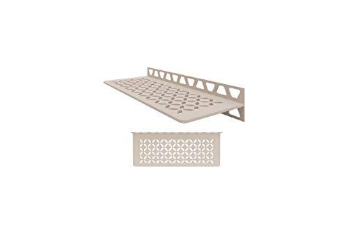 Schluter Systems Wall Shelf-W - Floral Design - Cream - SWS1D5TSC Kerdi-Line Shower Acessory