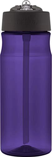 Thermos, Borraccia con Cannuccia, capacità 530 ml, Color Magenta Deep Purple