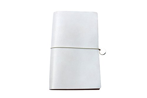 Libro de cuero VOYAGE 12 x 21 cm con escama de plata - En 4 colores - Con grabado personalizado