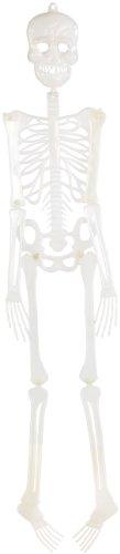 infactory Glow in The Dark Skelett: Halloween-Deko-Skelett für Schwarzlicht, 90 cm (Halloween-Dekos)