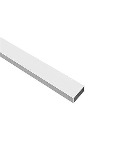 Jardin202 80 x 40 mm - Perfil de Aluminio Blanco - Tubo Rectangular - x3 unds - 2'10m