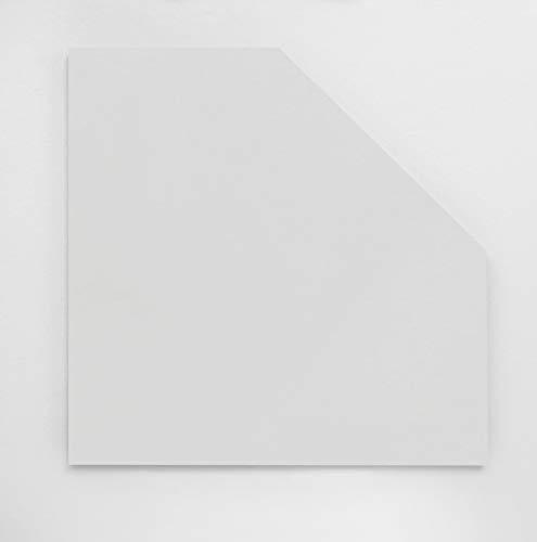 Möbelpartner Milo Eckplatte, weiß, ca. 65,0 x 65,0 x 2,2 cm