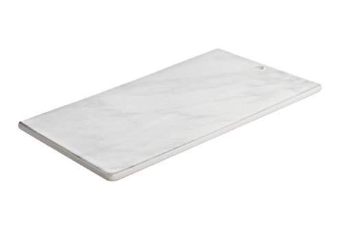 COSY TRENDY Marble Look Planche Tartines 25x15cmavec Trou - Porcelaine (Lot de 4)