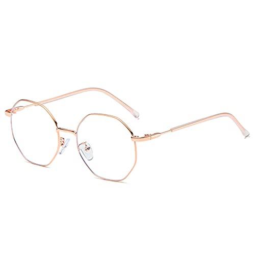 Gafas Occhiali Luce Anti-BLU,Computer di Protezione Dalle Radiazioni Occhiali,Uomo e Donna Leggero Telaio Rotondo Vintage Occhiali,Adatto per Impiegati e Uomini D'Affari (Color : B)