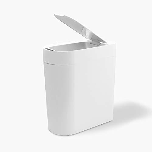 Smart Trash Can 10L, Inductie Automatische Waterdicht Vuilnisbak Met Deksel Afvalcontainer Voor Living Room Keuken Badkamer Toilet Hotel