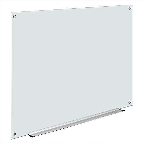 Amazon Basics Glass Board, Non-Magnetic Dry Erase White Board, Frameless, Infinity, 4 x 3 Foot