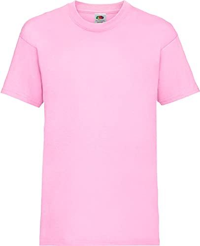 Shirtinstyle Kinder-Shirt Basic Uni Fruit of The Loom, Farbe Rosa, Größe 152