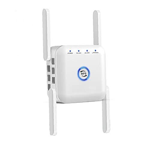 Amplificador de señal WIFI, extensor de rangos de refuerzo wifi 5GHz 2.4GHz DUAL BANDA DUAL SEÑAL INTERMANTE REPETRETE BLANCO