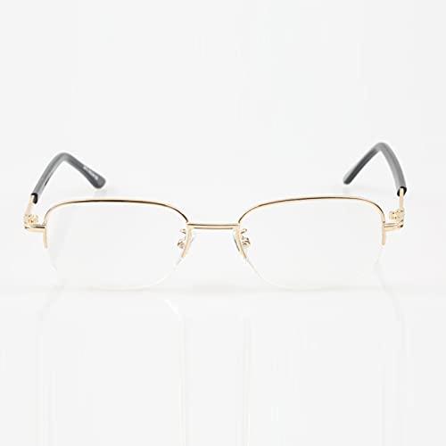 FENGFENG Reading Glasses Gafas de Lectura de múltiples focos progresivos Anti-Blue Light Light Gafas de Lectura Gafas de Lectura con Bloqueo de luz Azul de Medio Marco para Mujeres y Hombres