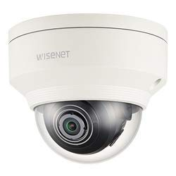 Hanwha Techwin XNV-6010 2MP WDR PoE Network Outdoor Dome Camera with 2.4mm Fixed Lens, RJ45 Connection.