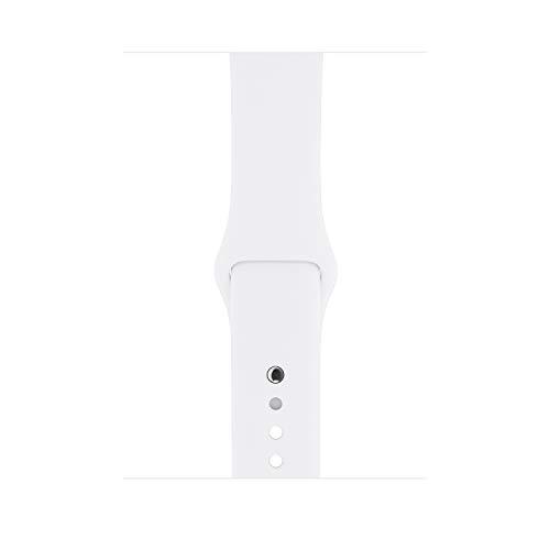Apple Watch Series 3 (GPS, 38mm) Aluminiumgehäuse Silber - Sportarmband Weiß