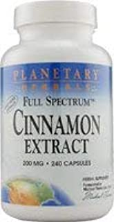 Full Spectrum Cinnamon Extract 200mg Planetary Herbals 240 VCaps