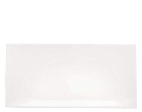 ASA 1994013 Plateau Porcelaine Blanc 33 x 17 x 3 cm