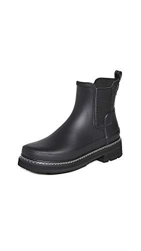 Hunters Boots Women's Refined Chelsea Stitch Detail Wellington Boots black Size: 5 UK