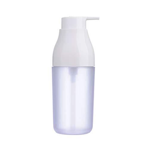 Liquide Distributeur 420 ML Bleu Vert Blanc Liquide Distributeur de ménage Shampooing Lotion Bouteille Gel Douche (Color : White, Taille : 21.6 * 7.9cm)
