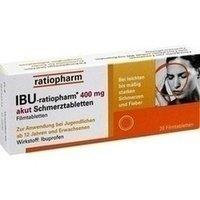 IBU-ratiopharm® 400 mg akut Schmerztabletten 20 Stück