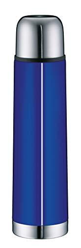 alfi 5457.255.075 Isolierflasche IsoTherm Eco, Edelstahl Royal Blue, 0,75 Liter, Drehverschluss, 12 Stunden heiß, 24 Stunden kalt, BPA-Free