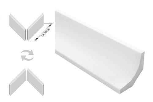 Zierleisten Sparpaket E-11-NK | inkl. vorgefertigte Ecken | leicht und stabil | extrudiertes Styropor | Stuckprofile | modern weiß | dekorativ | XPS | 35 x 35 mm | 20 Meter + 4 Ecken