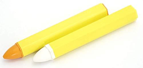 FELGENFACTORY 2X Reifenkreide Weiss+Gelb Reifenmarkierung Markierkreide Fettkreide