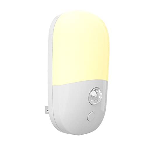 LSWGG Luz Nocturna con Sensor Luz Nocturna LED Enchufable Adecuada para La Habitación Los Niños El Dormitorio El Pasillo La Escalera La Cocina El Brillo Ajustable