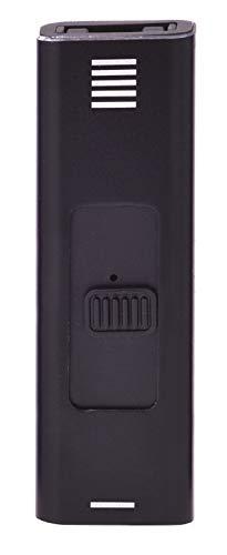 CHAMP USB ARC Metallic Feuerzeug No Flame No Gas USB Wiederaufladbar Windproof Power ARC (Schwarz)