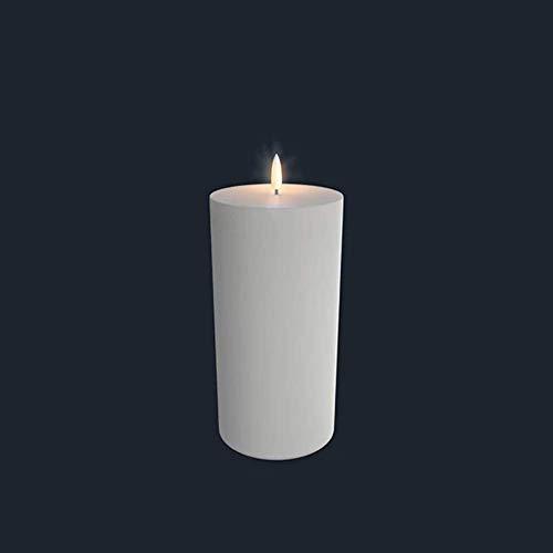Piffany Kerze aus natürlichem Wachs, Weiß 3, klein ULPIIV10120, pequeño