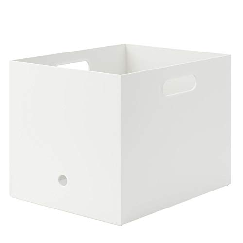 MUJI Caja de Archivos, Polipropileno, Blanco, D25x W32x H24cm