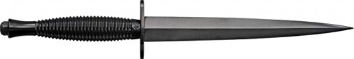 Sheffield Sykes Fairbairn Fixed Knife, black finish carbon steel dagger blade, Black finish