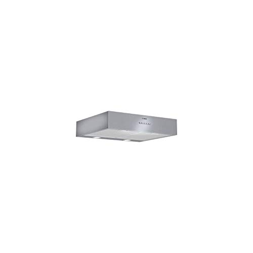 Campana extractora Bosch DHU626ML – Campana extractora Gorra – Ancho 60 cm – Caudal máximo de aire (en m3/h): 350 – Nivel sonoro decibel Mini/Maxi. (en dBA): 47/69