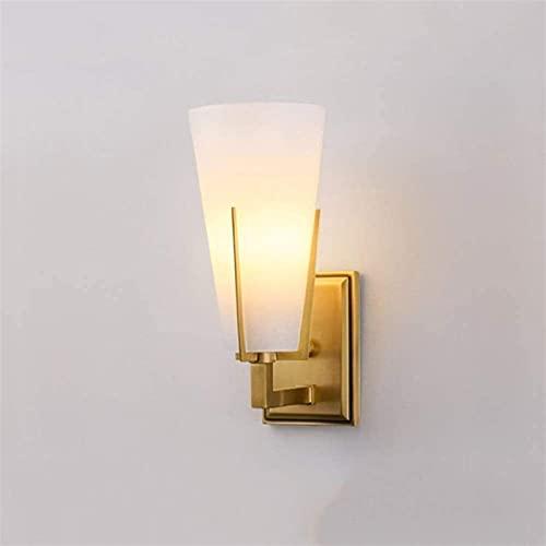 Ckssyao lámpara de pared Postmoderno Minimalismo Lámpara De Vidrio De Cobre Faros Faros Iluminación Ligera Espejo De Lámpara Frontal Diámetro 10 Cm Altura 24 Cm Distancia 15 Cm Dormitorio Sala De Esta