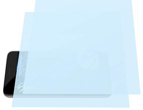Bruni Schutzfolie kompatibel mit Meizu M3 Note Folie, glasklare Bildschirmschutzfolie (2X)