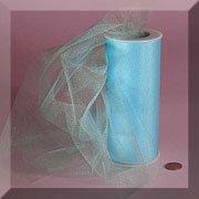 """Light Blue 6"""" X 25 Yds Glimmer/shimmer Tulle Roll"""