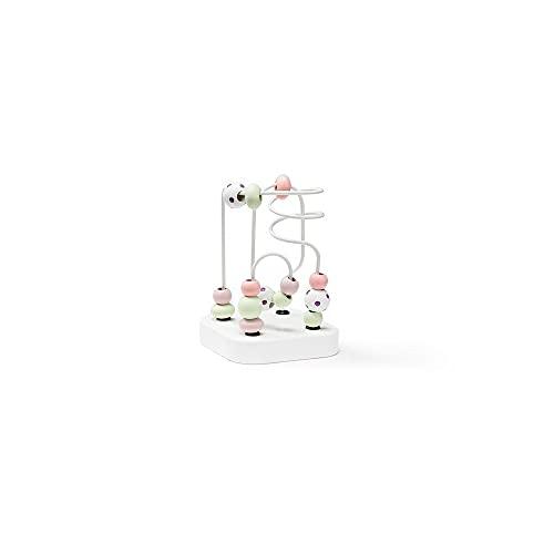 Kids Concept- Mini Edvin Laberintos de Abalorios, Color Blanco (1000466)