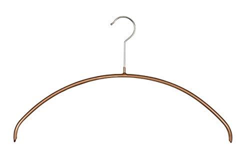 MAWA - Grucce appendiabiti, 10 pezzi, salvaspazio e antiscivolo, per magliette e maglioni, girevoli a 360°, rivestimento antiscivolo di alta qualità, 40 cm, rame