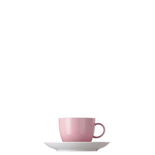 Tasse à Café et Soucoupe Thomas Sunny Day, Porcelaine, Rose Clair, Compatible Lave-Vaisselle, 20 cl, 2 Pièces, 14740