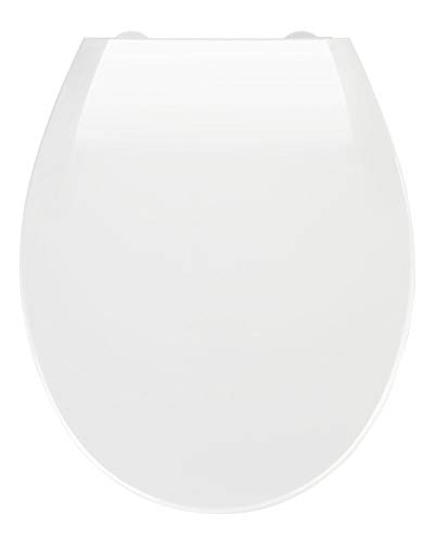 WENKO Tapa de WC Kos blanco - dispositivo automático de descenso, Thermoplast, 37 x 44 cm, Blanco