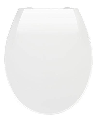 WENKO Premium WC-Sitz Kos Weiß - Toilettensitz, mit Absenkautomatik, Thermoplast, 37 x 44 cm, Weiß