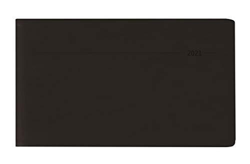 Timer TO GO Tucson schwarz 2021 - Büro-Kalender 15x9 cm - 1 Woche 2 Seiten - Quer-Timer - Alpha Edition