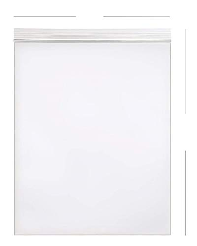 AM-Ink 50 bolsas de plástico con cierre de cremallera de 20 x 24 pulgadas, autoadhesivas, resellables y resellables, 2 ml