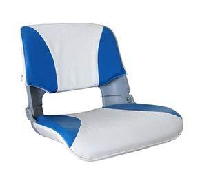 Aqualand Asiento Plegable Skipper con Cojines Blanco-Azul