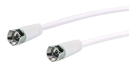 SCHWAIGER -KVC230 052- SAT-Anschlusskabel 75 dB/ 3 m/F-Stecker > F-Stecker/ 2-Fach Schirmung/ 75 Ohm/digital, HDTV, DVB-S/S2/ weiß
