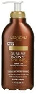 L'Oreal Paris Sublime Bronze One-Day Tinted Gel, 6.7-Fluid Ounce