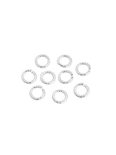 Runemara Design 30 Gramm Aluminiumringe rund 12x2mm (110 Stücke) -