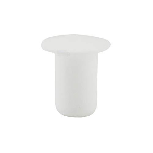 IROX - Lote de 20 tapones para los agujeros de 6 mm, de plástico, color blanco