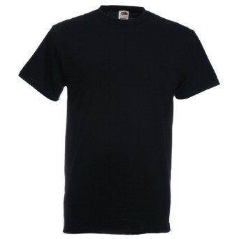 Fruit Of The Loom - T-shirt pour hommes en coton épais - Noir - XXX-Large