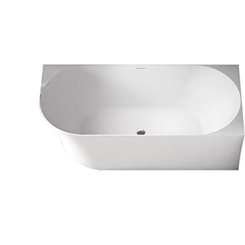 Freistehende Raumsparbadewanne NOVA SLIM LINE Acryl Weiß glänzend - Einbau Rechts - Ohne Standarmatur, Ohne Siphon, 170 x 78 cm