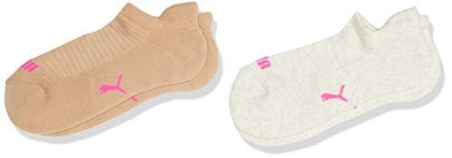 PUMA Frauen Sneaker Trainer Socken, Oatmeal, 39/42 (2er Pack)