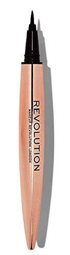 Makeup Revolution Eye Liner, Renaissance Flick Liquid Eyeliner Pen, Super Slim Long-Lasting with Seamless Glide, Black Eyeliner, Rose Gold Pen